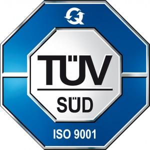 ISO 9001 Zertifikat ausgestellt durch den Tüv Süd